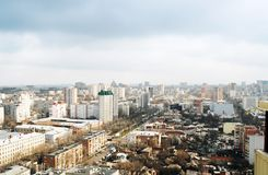 Rostov-on-Don. Aerial view of Rostov-on-Don, Russia Royalty Free Stock Photo