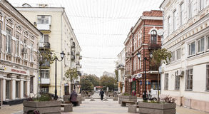 Rostov-on-Don. Cathedral Lane. For him are going pedestrians Royalty Free Stock Image