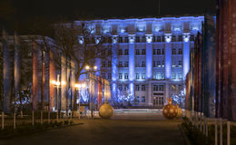 Rostov-on-Don in the Christmas illuminations Royalty Free Stock Photo