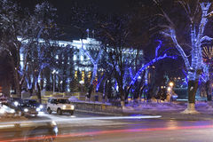 Rostov-on-Don in the Christmas illuminations.2015 Stock Image