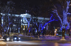Rostov-on-Don in the Christmas illuminations Stock Images