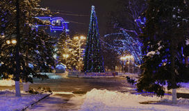 Rostov-on-Don in the Christmas illuminations Royalty Free Stock Image