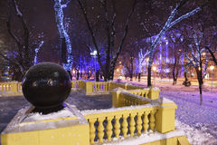 Rostov-on-Don in the Christmas illuminations Royalty Free Stock Photos