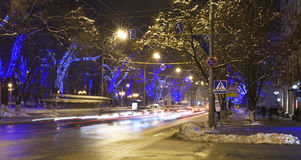 Rostov-on-Don in the Christmas illuminations Royalty Free Stock Images