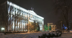Rostov-on-Don in the Christmas illuminations Royalty Free Stock Photography