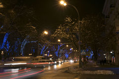 Rostov-on-Don in the Christmas illuminations Stock Photography