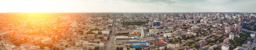 Rostov-on-Don. Russia. aerial view, City Panorama Royalty Free Stock Photography
