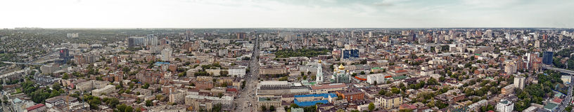 Rostov-on-Don. Russia. aerial view, City Panorama Royalty Free Stock Images