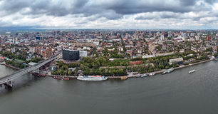 Rostov-on-Don. Russia. aerial view, Panoramas of the city Stock Images