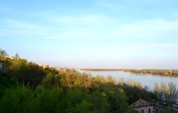 Rostov-on-Don. Russia, overlooking the river Don. April 27 Monday, 2015 Royalty Free Stock Image
