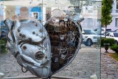 ROSTOV-ON-DON, RUSSIE - MAI 2017 : monument de coeur Photographie stock