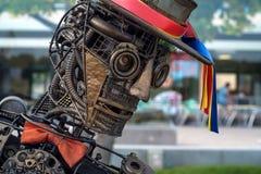 ROSTOV-ON-DON, RUSSIE - MAI 2017 : musicien Image libre de droits