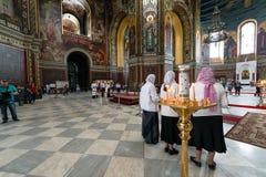 ROSTOV-ON-DON, RUSSLAND - CIRCA IM NOVEMBER 2017: Innere orthodoxe Kirche Lizenzfreie Stockfotografie