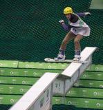 Rostov-On-Don, Russland, am 26. September 2013 - der Athlet springt an Lizenzfreies Stockfoto