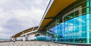 Rostov-On-Don Ryssland - September 11, 2018: Flygplats Platov, buil royaltyfri foto
