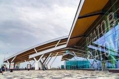 Rostov-On-Don Ryssland - September 11, 2018: Flygplats Platov, buil arkivbilder
