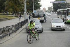 Rostov Don - wielki miasto w południe federacja rosyjska administracyjny centrum Rostov Oblast miasta widok obraz royalty free