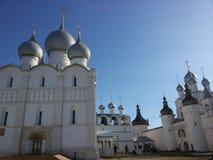 Rostov the Great Kremlin in winter, Golden ring, Yaroslavl region, Russia royalty free stock image