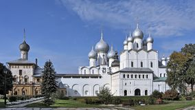Rostov Great and old churches. Of the Rostov Kremlin Stock Images