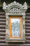 Rostov the Great. Window with carved architraves Royalty Free Stock Images