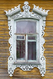 Rostov the Great. Window with carved architraves Royalty Free Stock Photo