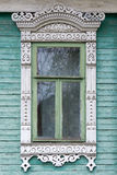 Rostov the Great. Window with carved architraves Stock Photo