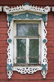 Rostov the Great. Window with carved architraves Stock Image