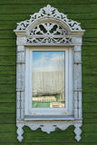 Rostov the Great. Window with carved architraves Stock Images
