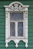 Rostov the Great. Window with carved architraves Royalty Free Stock Photos