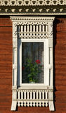 Rostov the Great. Window with carved architraves Stock Photos