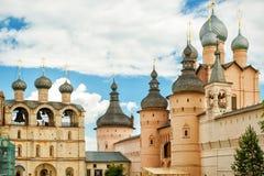 Rostov het Kremlin, Gouden Ring van Rusland royalty-vrije stock afbeelding