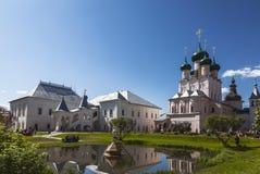 Rostov het Kremlin op vakantie, Rostov de Grote, Gouden ring, stock afbeeldingen