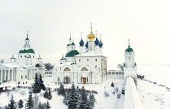 Rostov il grande sotto la neve Immagine Stock Libera da Diritti