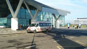 Rostov internationell flygplats Platov Royaltyfri Foto