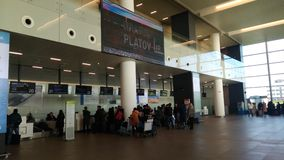 Rostov internationell flygplats Platov Royaltyfri Bild
