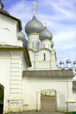 Rostov kremlin  assumption cathedral  golden cross Royalty Free Stock Photography