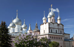 The Rostov Kremlin cathedrals Royalty Free Stock Photography