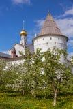 Rostov Kremlin garden Royalty Free Stock Photography
