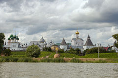 Rostov Kremlin on the lake Nero Stock Image