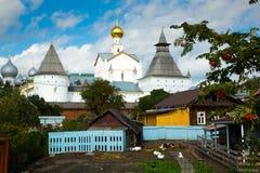 Rostov kremlin surroundings Stock Photos