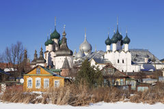 Rostov Kremlin, view from the Nero lake Stock Photography