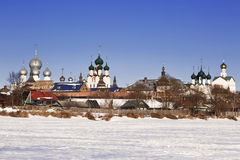 Rostov Kremlin,  view from the Nero lake Royalty Free Stock Photos