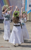 Rostov-on-Don, Russia- May 22,2016: Dance Moms, With Wreaths On Royalty Free Stock Photography