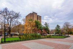 ROSTOV-OP-TREK AAN, RUSLAND - NOVEMBER 10, 2016: Don State Public Library in Rusland Stock Fotografie