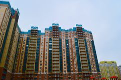 Rostov region, Rostov, Leventsovsky district. New home. royalty free stock image