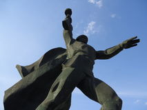 Rostov region, Shakhty soldat Monument Royaltyfria Foton