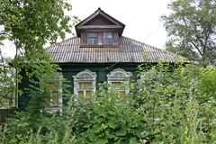Old wooden house in Russia Royalty Free Stock Photos