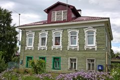 Old wooden house in Russia Royalty Free Stock Images