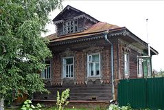 Old wooden house in Russia Royalty Free Stock Image