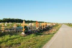 Rostov - - trekt centrale begraafplaats aan Royalty-vrije Stock Foto
